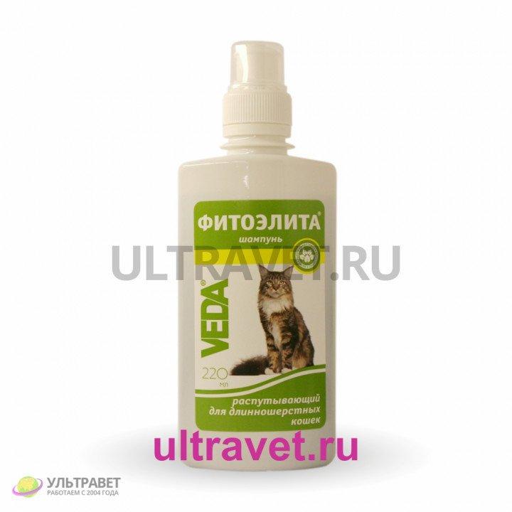 ФитоЭЛИТА шампунь распутывающий для длинношерстных кошек