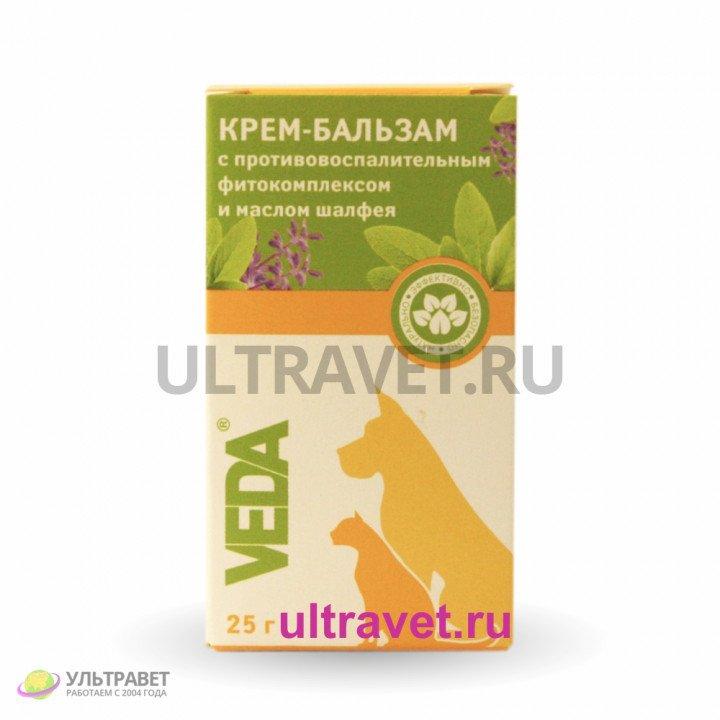 Крем-бальзам с противовоспалительным фитокомплексом и маслом шалфея, Veda, 25 гр
