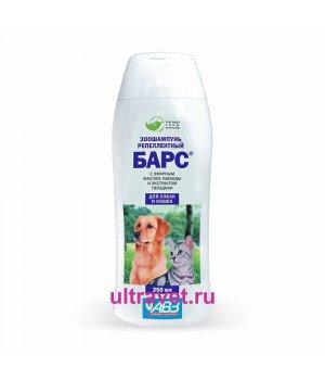 Шампунь (зоошампунь) БАРС® репеллентный для собак и кошек, 250 мл