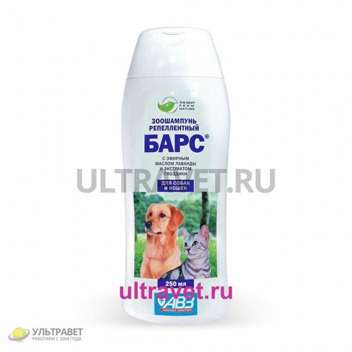 Зоошампунь БАРС® репеллентный для собак и кошек