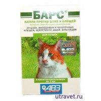 """Капли """"Барс"""" для кошек против блох и клещей"""