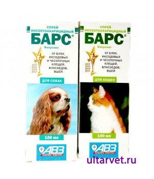 Спрей инсектоакарицидный БАРС для кошек