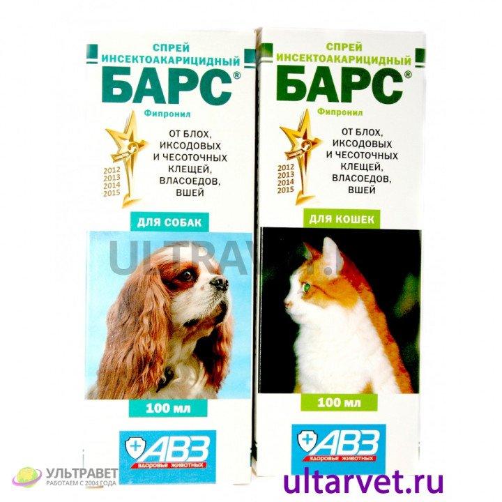 Спрей инсектоакарицидный БАРС для собак