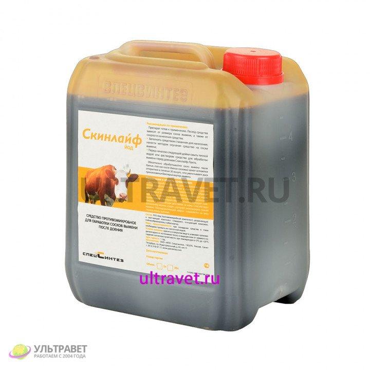 Скинлайф Йод противомикробное средство для обработки сосков вымени после доения