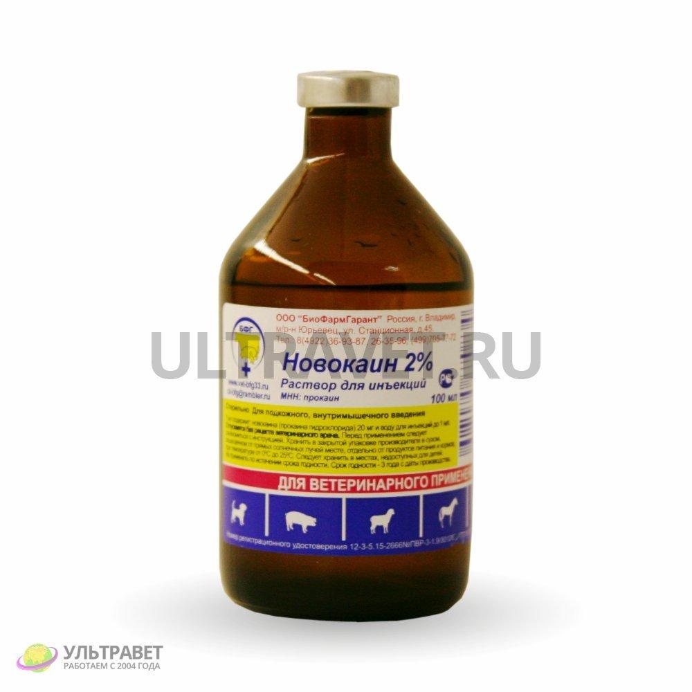 Новокаин 2% раствор для инъекций, БФГ, 100 мл