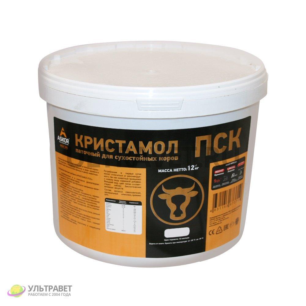 """Добавка энергетически-протеиновая """"Кристамол-ПСК"""" паточный для сухостойных коров (Askor), 12 кг"""