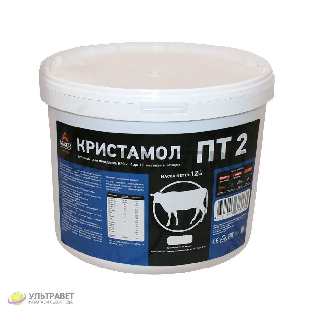 """Добавка """"Кристамол-ПТ2"""" паточный для молодняка КРС от 4 до 18 месяцев и откорм (Askor), 12 кг"""