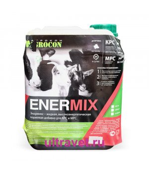 Кормовая добавка ENERMIX до и после отела (16% пропиленгликоль), 5,5 кг