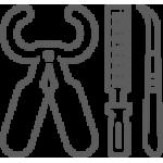 Инструменты для обработки копыт: ножи, ножницы, диски, ванны, колодки, щипцы