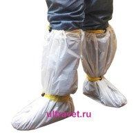 Бахилы высокие однораз. с фиксируемыми шнурами БВЗ-У м20, 1 пара
