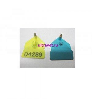 Бирка двойная 4,9х4 см цельнометаллич. канюля без № и с №