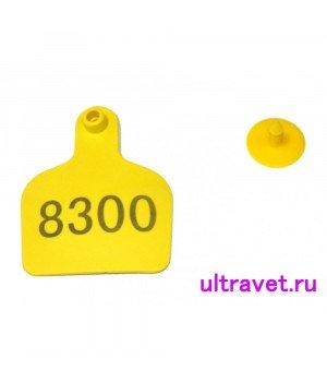 Бирка МОЛОЧНАЯ КОРОВА 9,8х7,5 см с номером