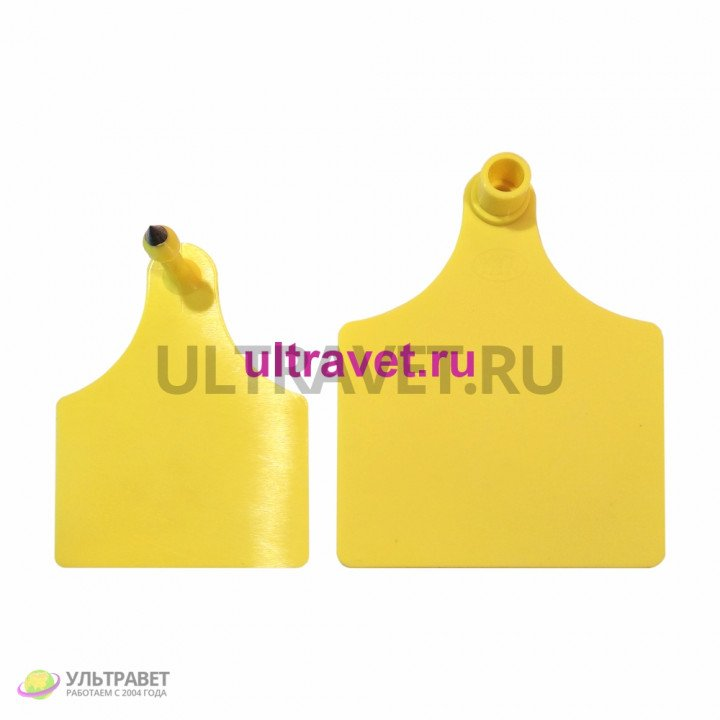 Бирка ушная Ультра двойная 100х75 мм для КРС (К)