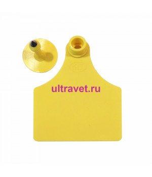 Бирка ушная Ультра с клипсой 100х75 мм, Ø28 мм для КРС (К)