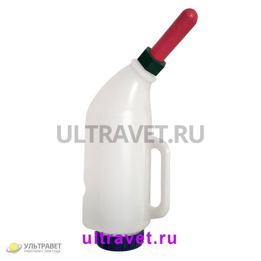 Бутылка изогнутая с соской и ручкой для телят, 3 л