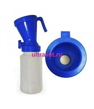 Дезинфектор (стаканчик) для обработки пеной СИНИЙ с клапаном, 300 мл