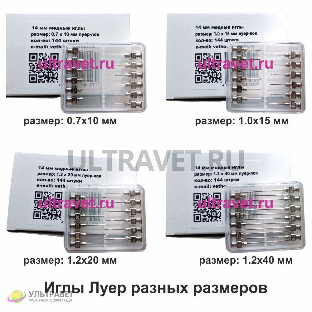 Иглы Луер (многоразовые) для ветеринарного применения (упаковка 12 шт.)