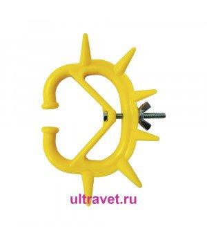 Кольцо против высасывания молока 7,5х8,5 см маленькое, жёлтое