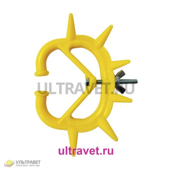 Кольцо носовое против высасывания молока 7,5х8,5 см маленькое, жёлтое
