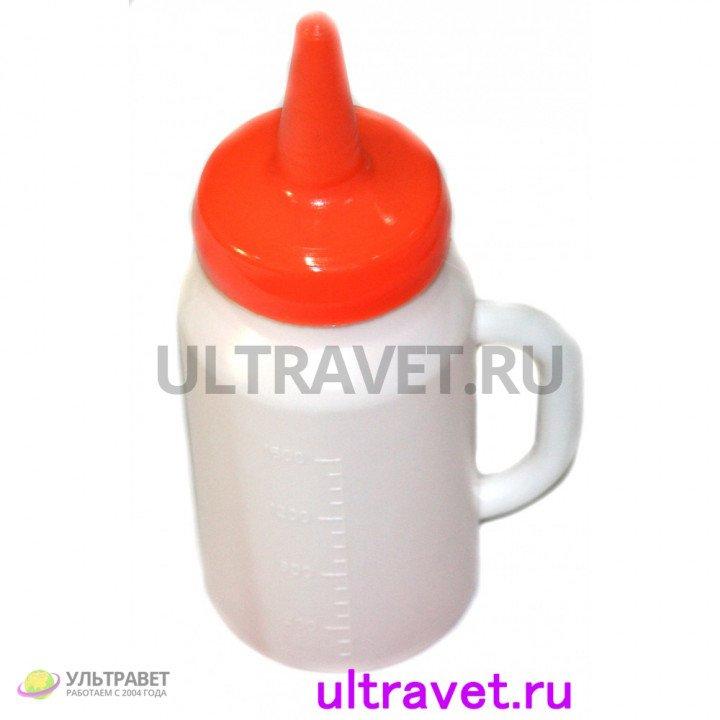Молокопоилка пластиковая с соской, 2 л