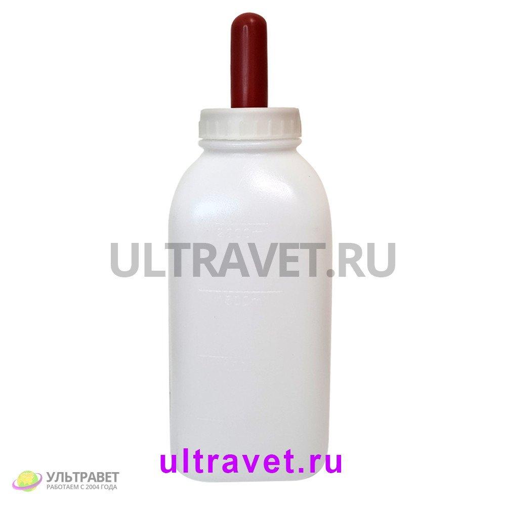 Молокопоилка пластиковая квадратная для телят, 2 л