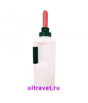 Молокопоилка пластиковая с ручкой для телят, 3 л