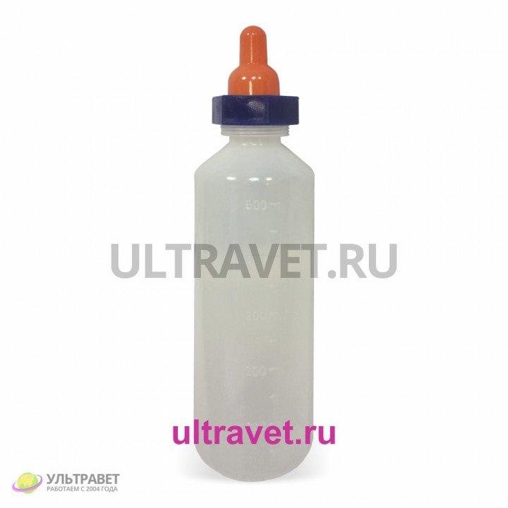 Молокопоилка пластиковая с соской 0,5 л