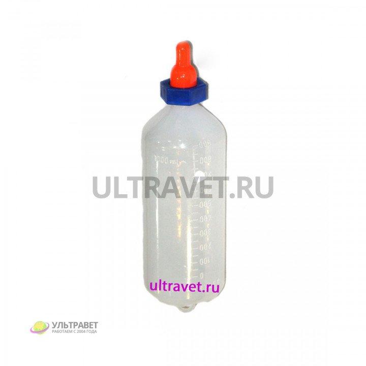Молокопоилка пластиковая с соской 1 л