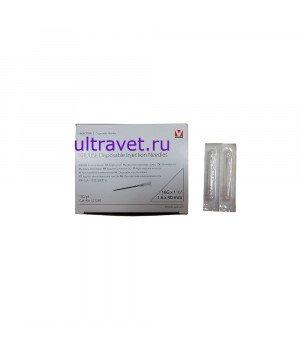 Одноразовая инъекционная игла (иглы) 16Gх1 (1,6х40 мм)
