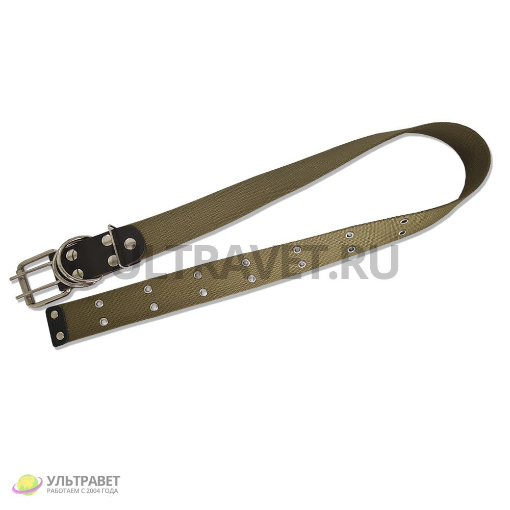 Ошейник для КРС Ультра брезентовый, одинарный, пряжка ременная (2 кольца), 105 см