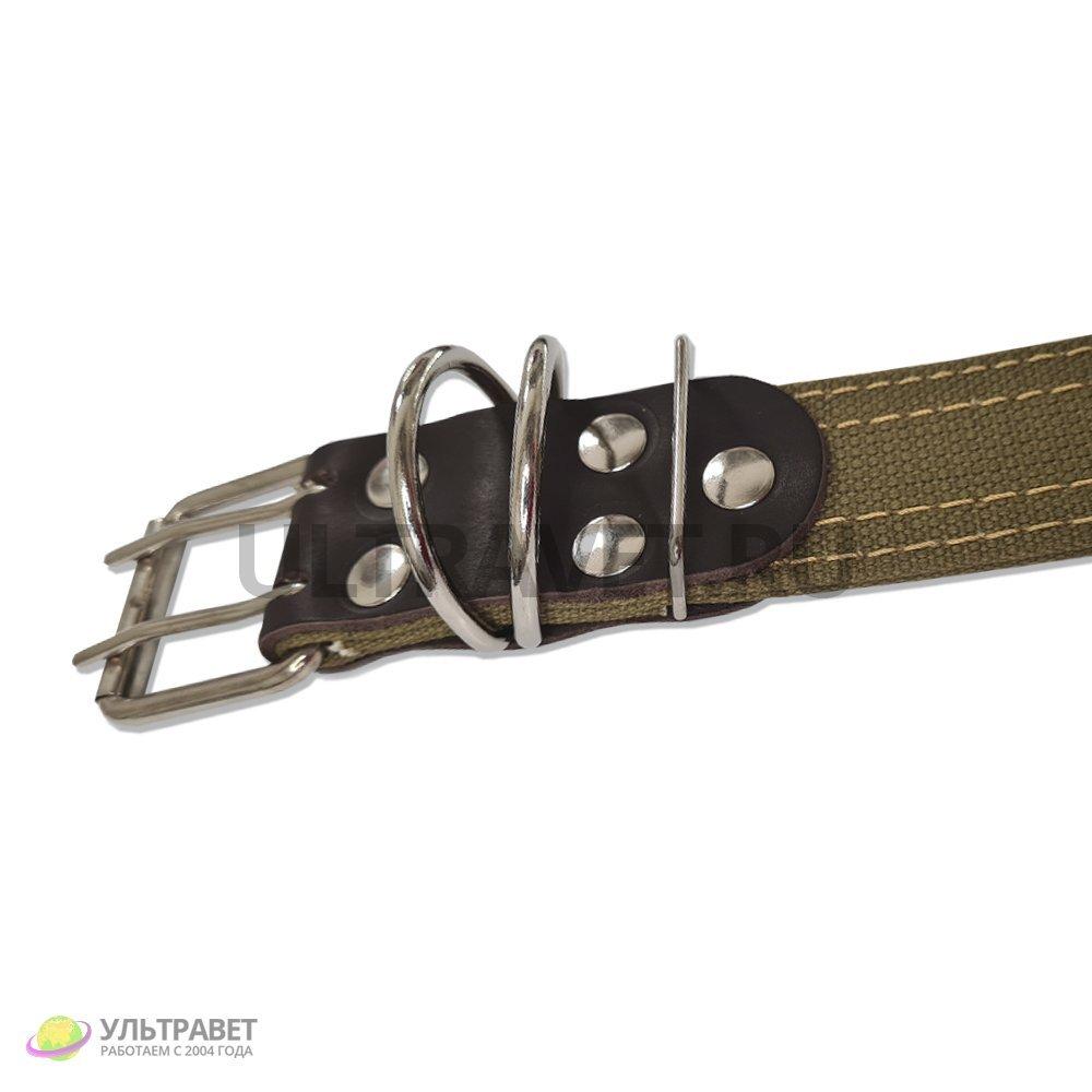 Ошейник для КРС Ультра брезентовый, усиленный, пряжка ременная (2 кольца), 105 см