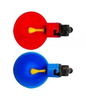 Поилка ниппельная чашечная (красная, синяя)