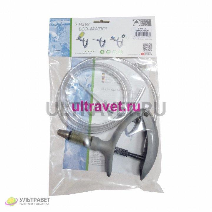 Шприц-вакцинатор HSW ECO-MATIC® с трубкой, Луер-Лок (2 мл, 5 мл)