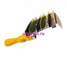 """Скребница металлическая хромированная """" 6+1"""""""