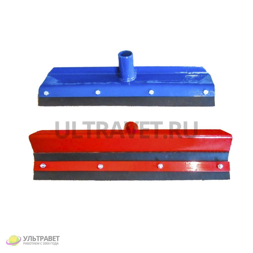 Скребок для навоза без ручки обрезиненный (красный), 55 см
