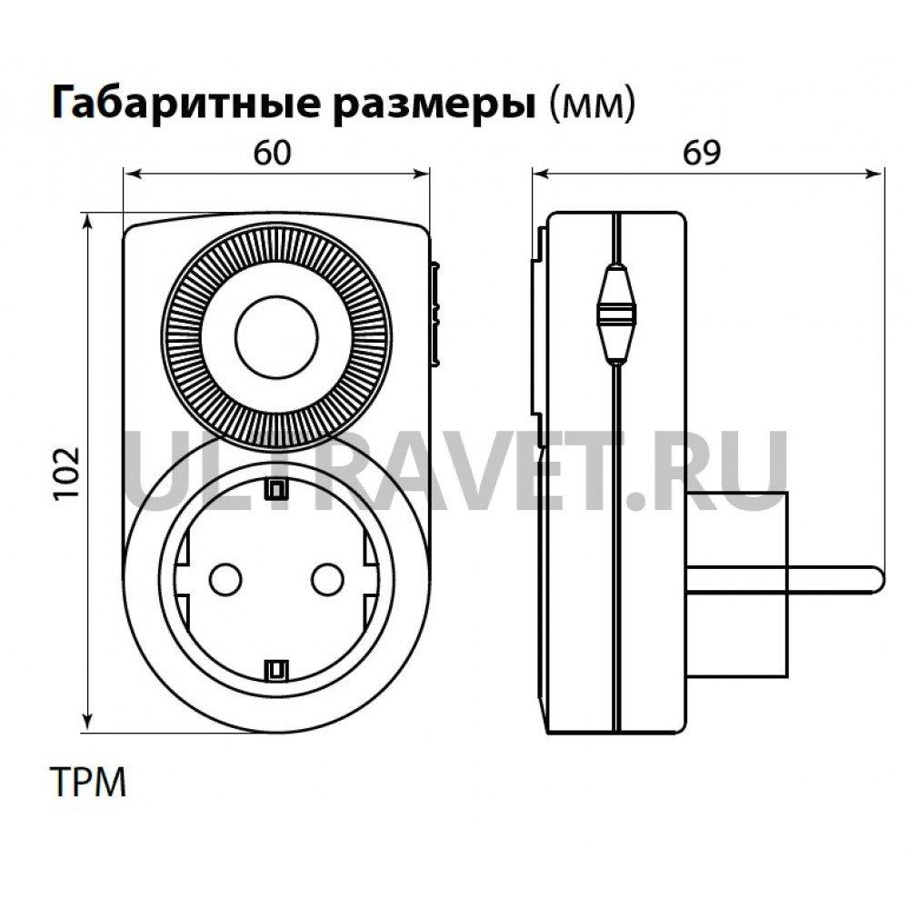 Таймер розеточный ТРМ-01-30мин/24ч-16А (суточный) TDM