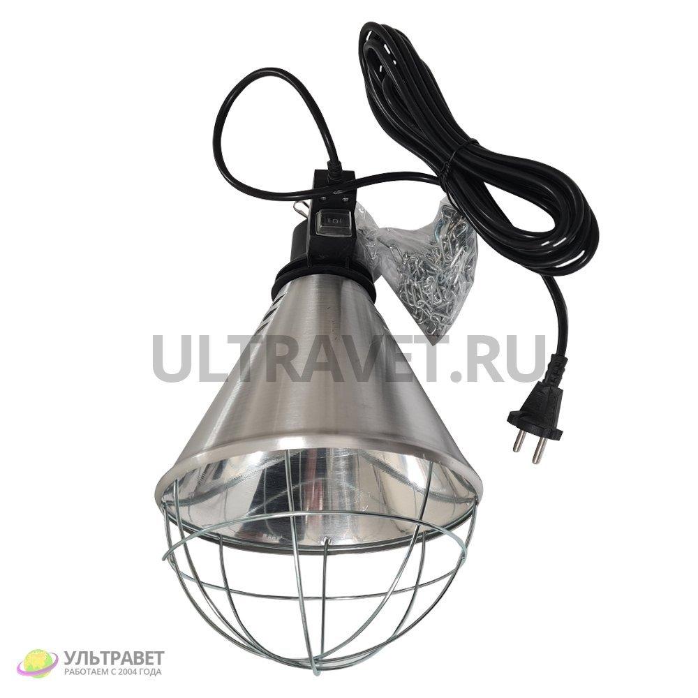 Инфракрасный теплоизлучатель (абажур алюминиевый) для ламп для обогрева животных