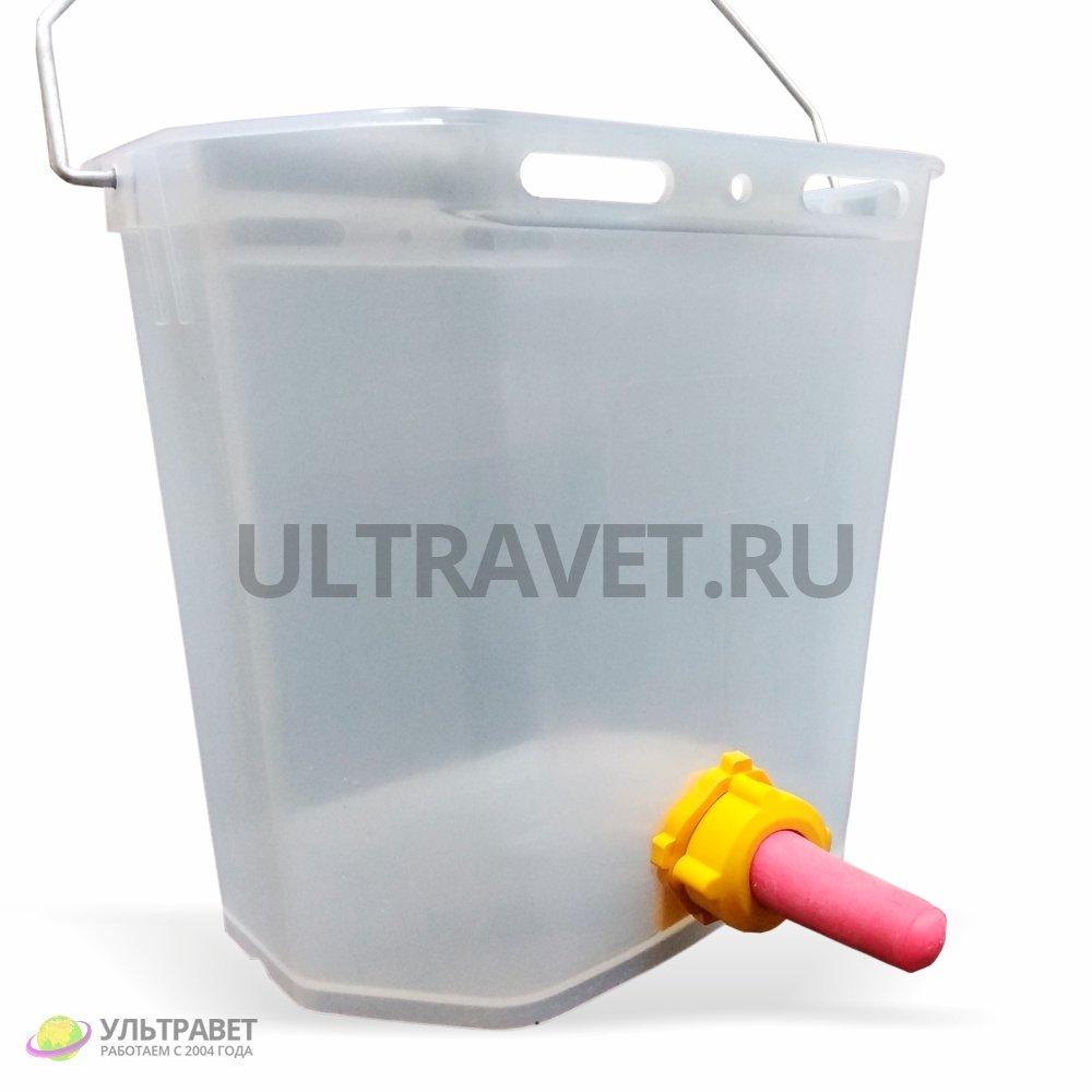 Ведро для поения телят с соской и клапаном, 10 л