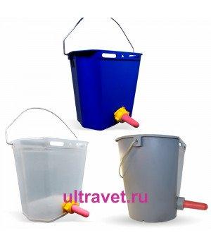 Ведро для поения телят с соской и клапаном (8 л, 10 л)