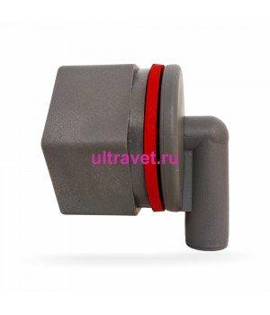 Запасной клапан СЕРЫЙ для ведра (8л, 10л) выпойки телят Ø3,8 см