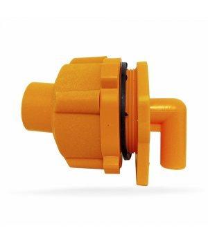 Запасной клапан ЖЕЛТЫЙ для ведра (10 л) выпойки телят, Ø4,5 см