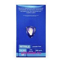 Перчатки мед. смотровые нитриловые голубые TN303, М (200 шт.)