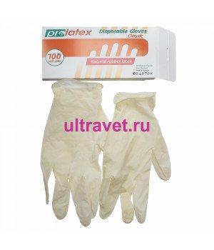 Перчатки одноразовые нитриловые текстурированные PROLATEX (100 шт.)
