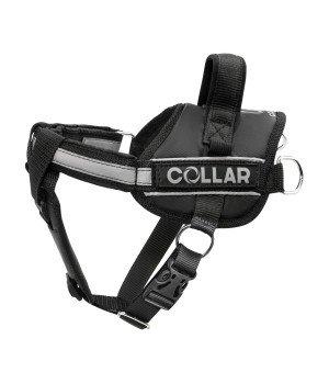 Шлейка Dog Extreme Police со сменными надписями, черная