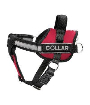 Шлейка Dog Extreme Police со сменными надписями, красная