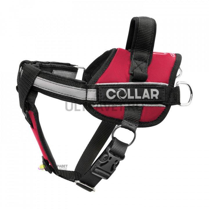 Шлейка для собак Dog Extreme Police со сменными надписями, красная