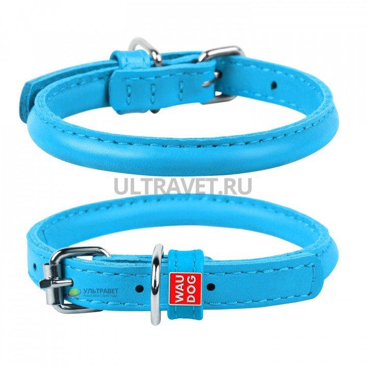 Ошейник WAUDOG Glamour круглый для длинношерстных собак, синий