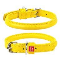 Ошейник WAUDOG Glamour круглый для длинношерстных собак, желтый