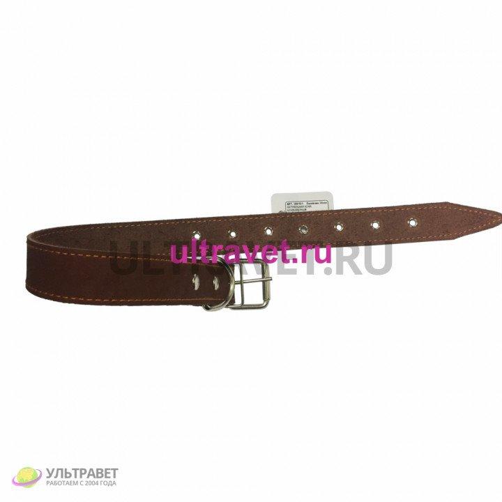 Ошейник 30 мм натуральная кожа безразмерный, 66 см