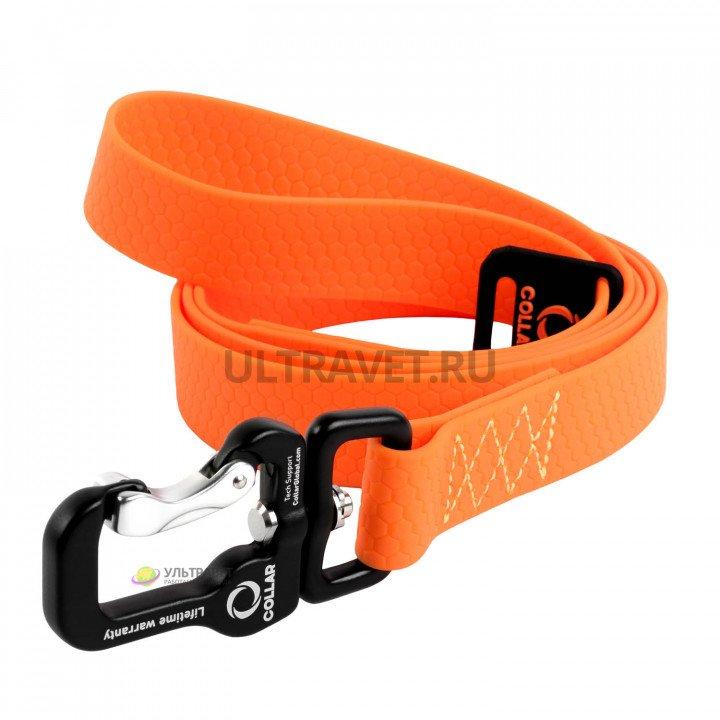 Поводок EVOLUTOR (ЭВОЛЮТОР) самый прочный в мире, цвет оранжевый, 25 мм